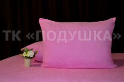 Купить розовые махровые наволочки на молнии в Тольятти